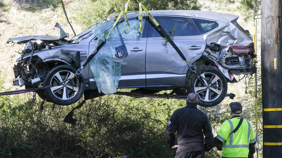 Revelan las causas del accidente que sufrió Tiger Woods en febrero.