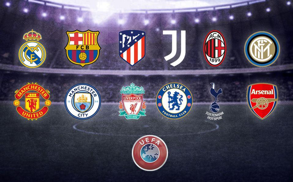 Los principales clubes europeos de fútbol anuncian la nueva Superliga.