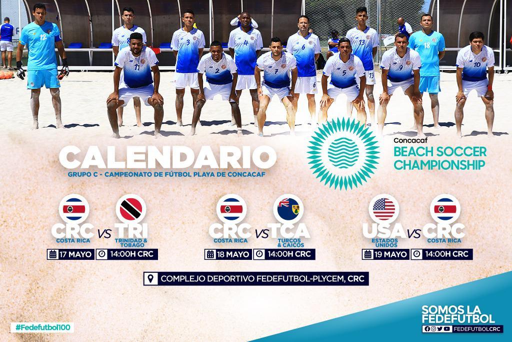 Concacaf anunció el calendario para Premundial de Fútbol Playa.
