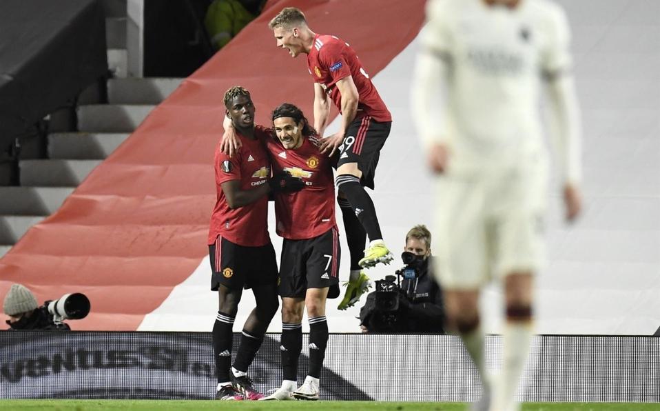 Manchester United aplastó a la Roma en la ida de las semifinales de la Europa League.