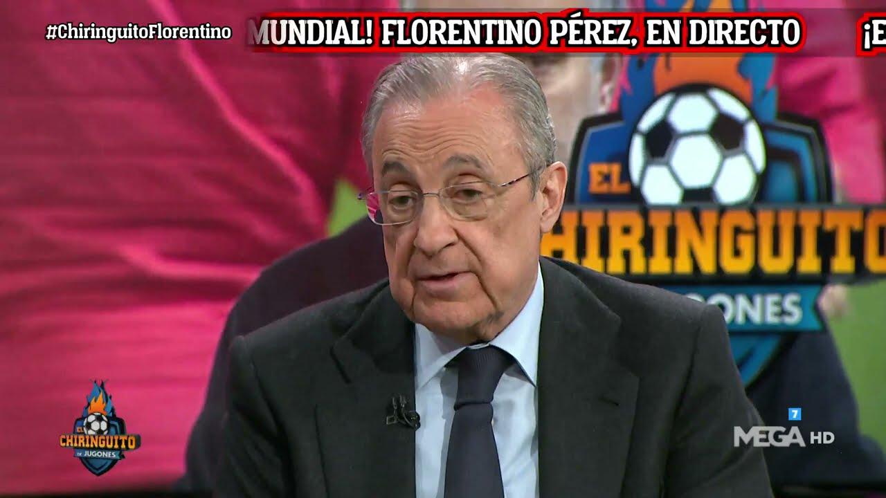 """Florentino responde a la UEFA: """"Al Madrid no le van a echar de la Champions, ni al Madrid ni a nadie, estoy completamente seguro""""."""