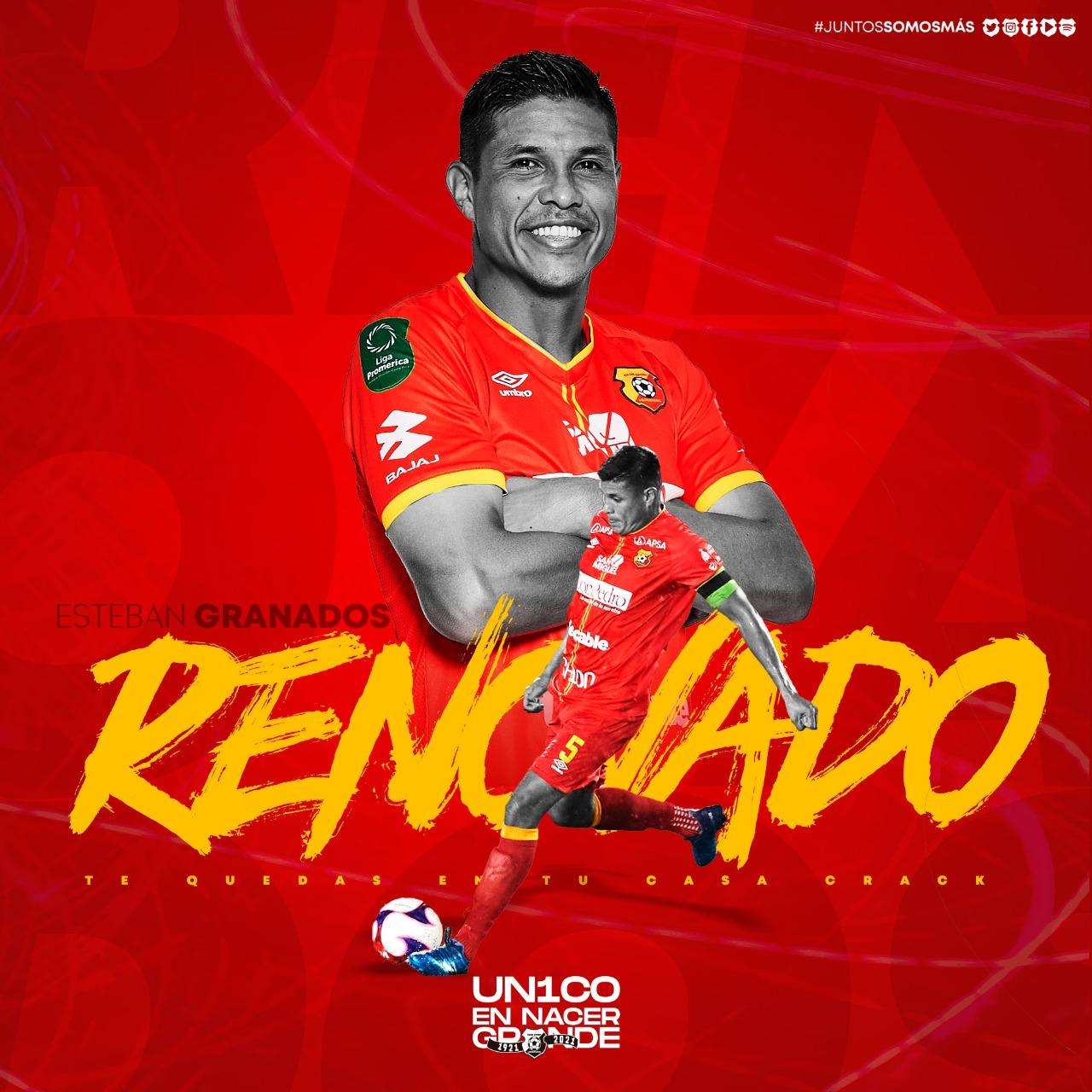 Herediano renueva por un año más a Oscar Esteban Granados.