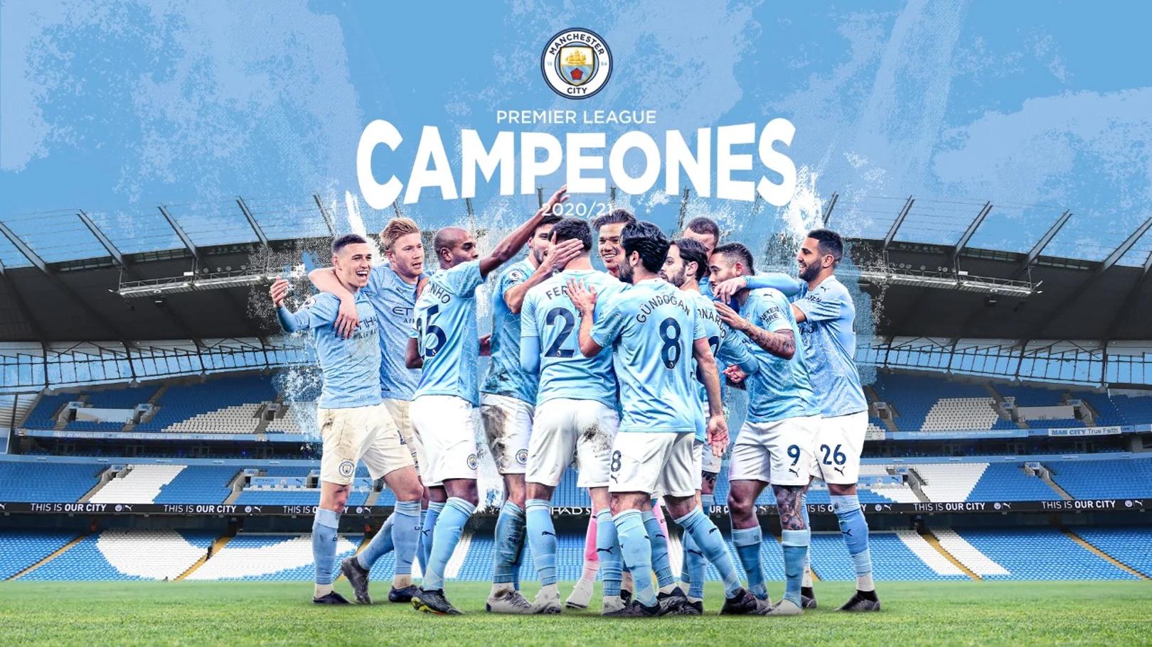 Manchester City se coronó campeón de la Premir League.