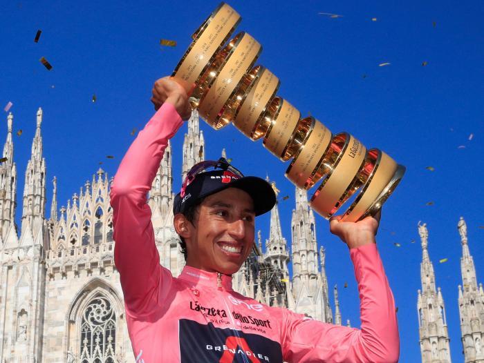 El colombiano Egan Bernal se coronó campeón del Giro de Italia.