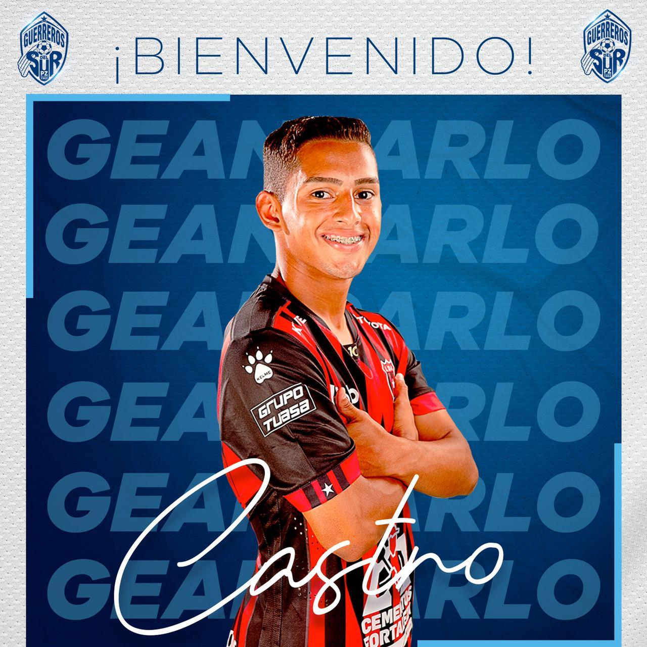 Geancarlo Castro jugará a préstamo en Pérez Zeledón.