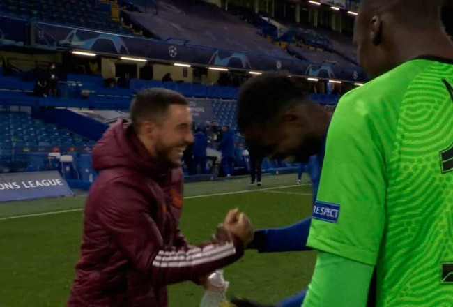 Eden Hazard ofreció disculpas a la afición del Real Madrid por carcajadas junto a excompañeros del Chelsea.