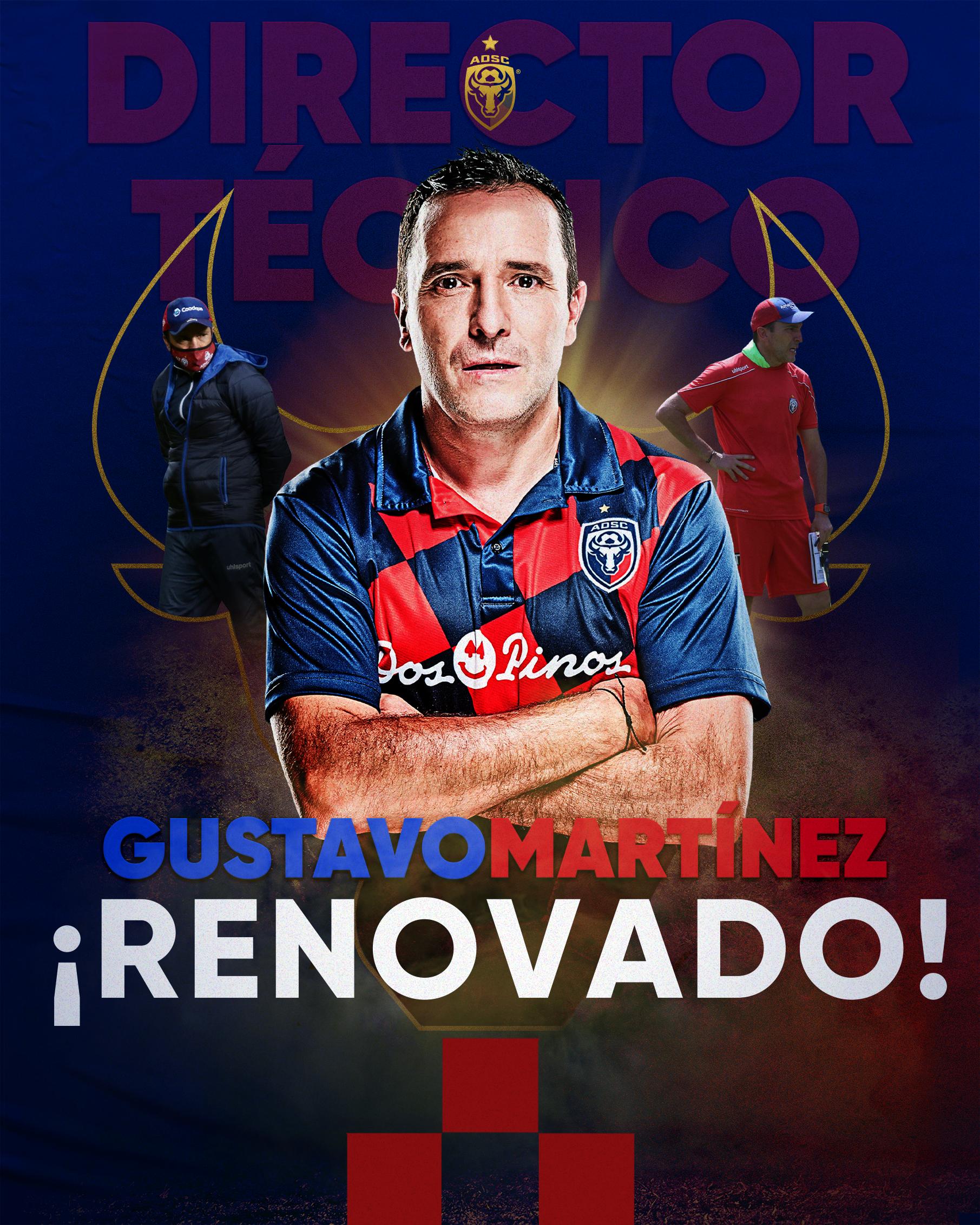 San Carlos renovó contrato con el técnico Gustavo Martínez por un año más.