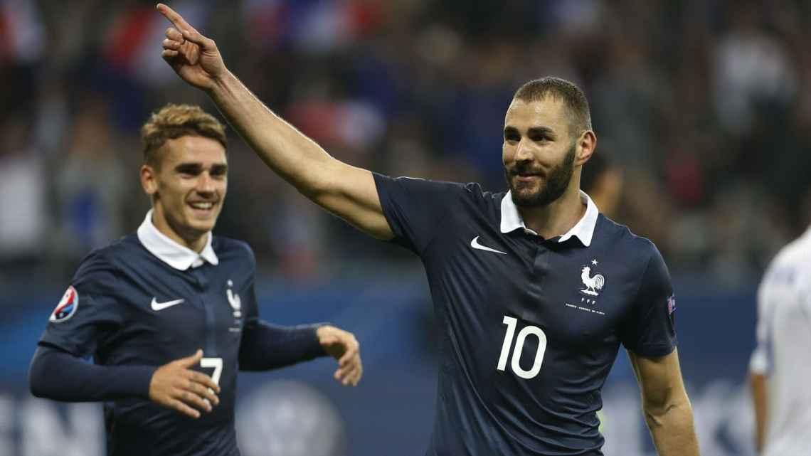 Karim Benzema en la lista de Francia para la Eurocopa.