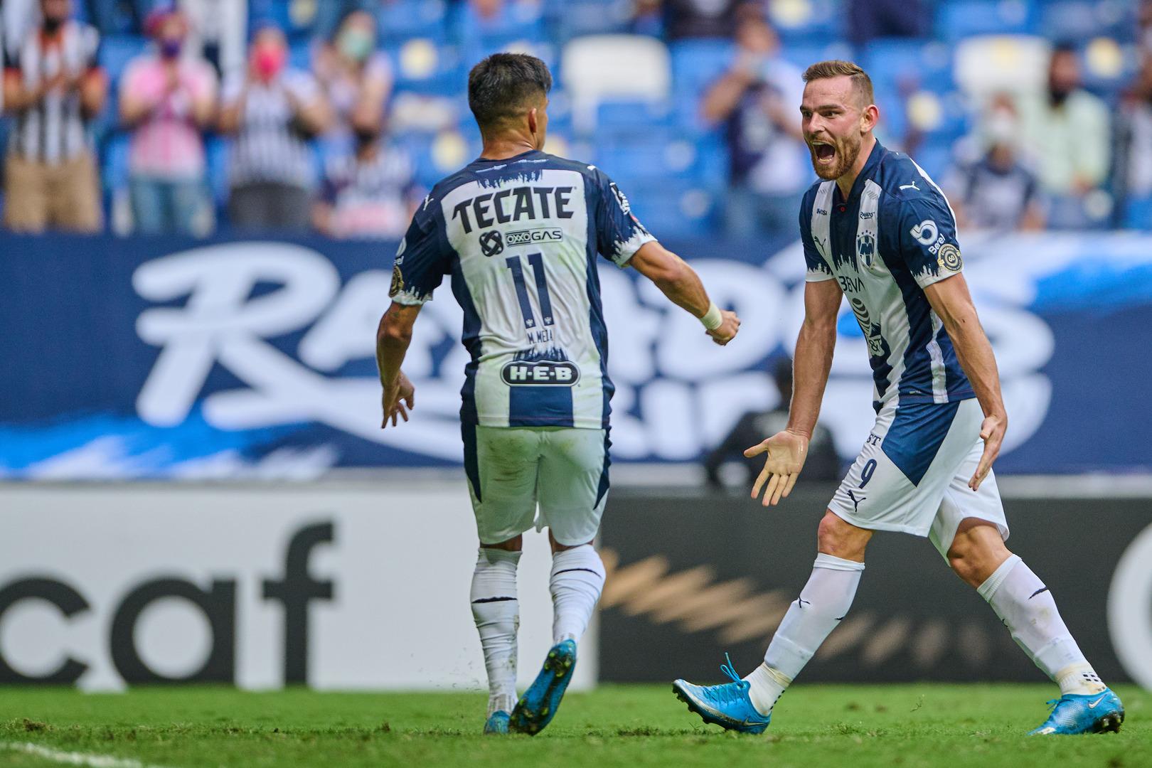 Monterrey goleó al Columbus Crew y clasifica a semifinales de la Concachampions.
