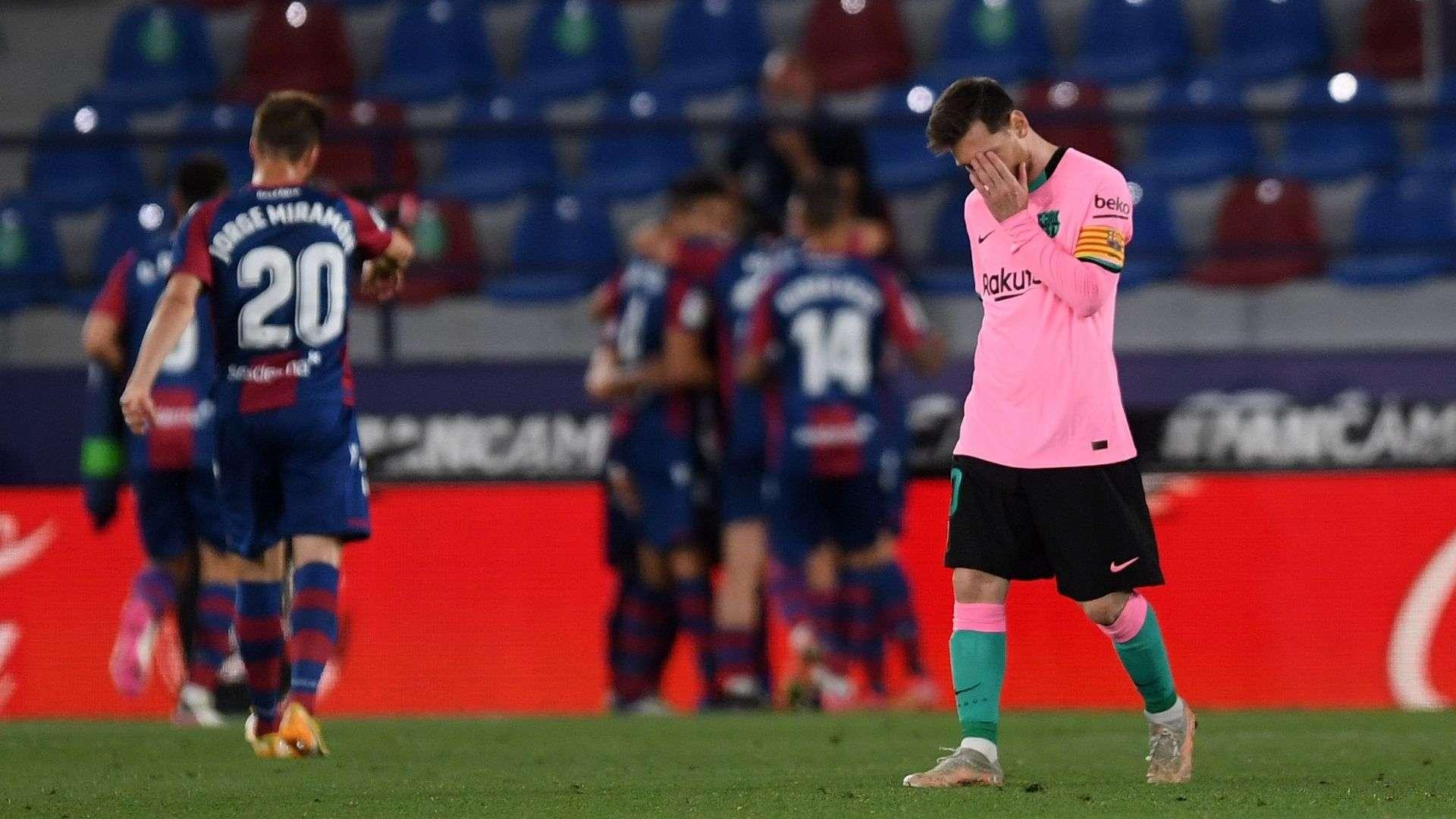 Barcelona no pudo con el Levante y prácticamente le dice adiós a la Liga.