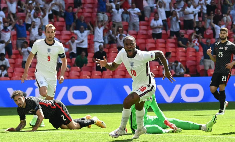 Eurocopa: Inglaterra venció por la mínima en Wembley a Croacia por el Grupo D.