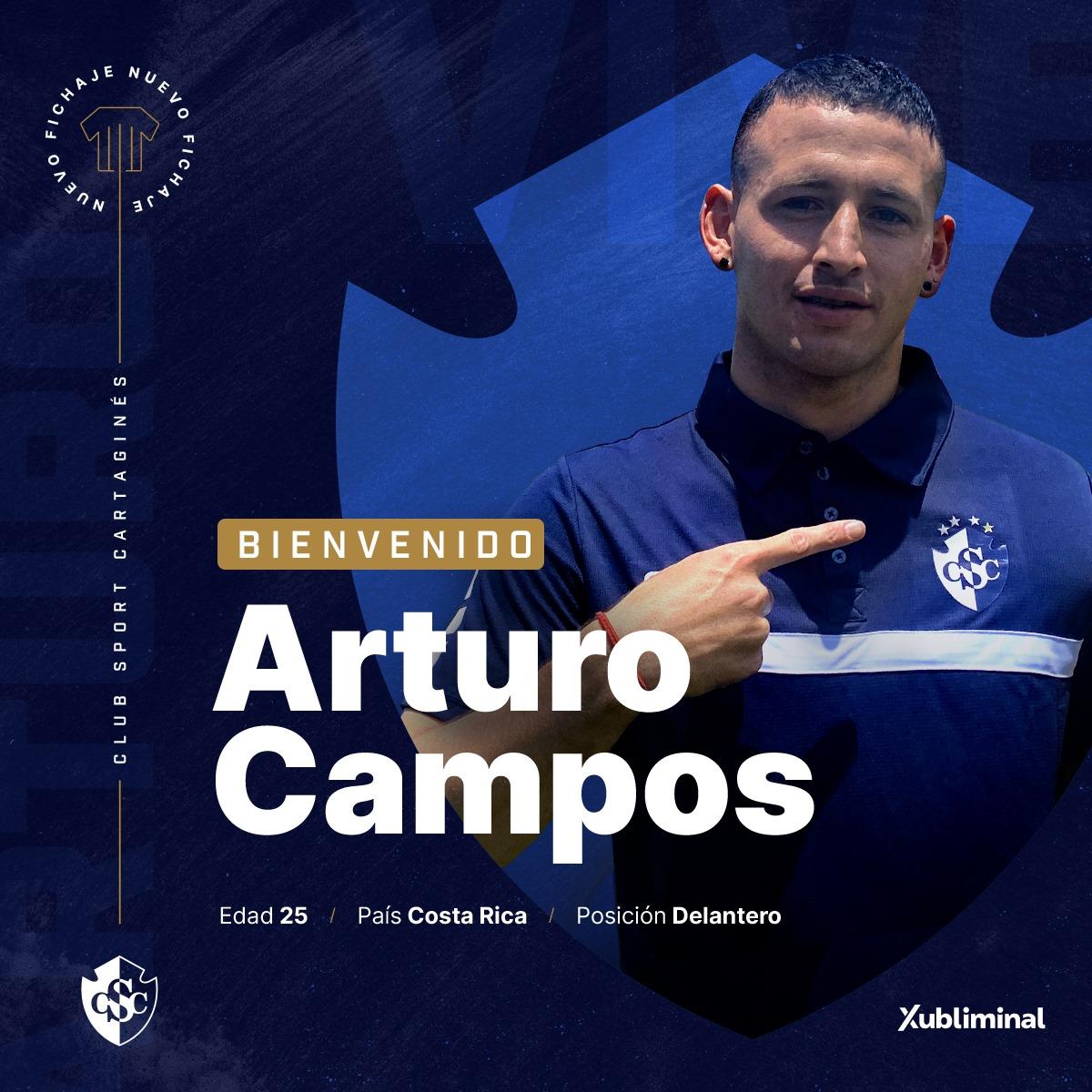 Arturo Campos deja el Herediano y se va a prétsamo al Cartaginés.