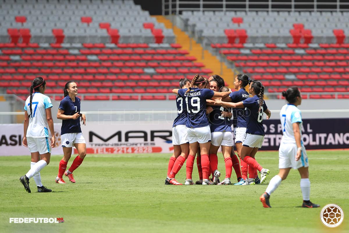 Selección Femenina derrotó a Guatemala en el Centenario de la Fedefútbol