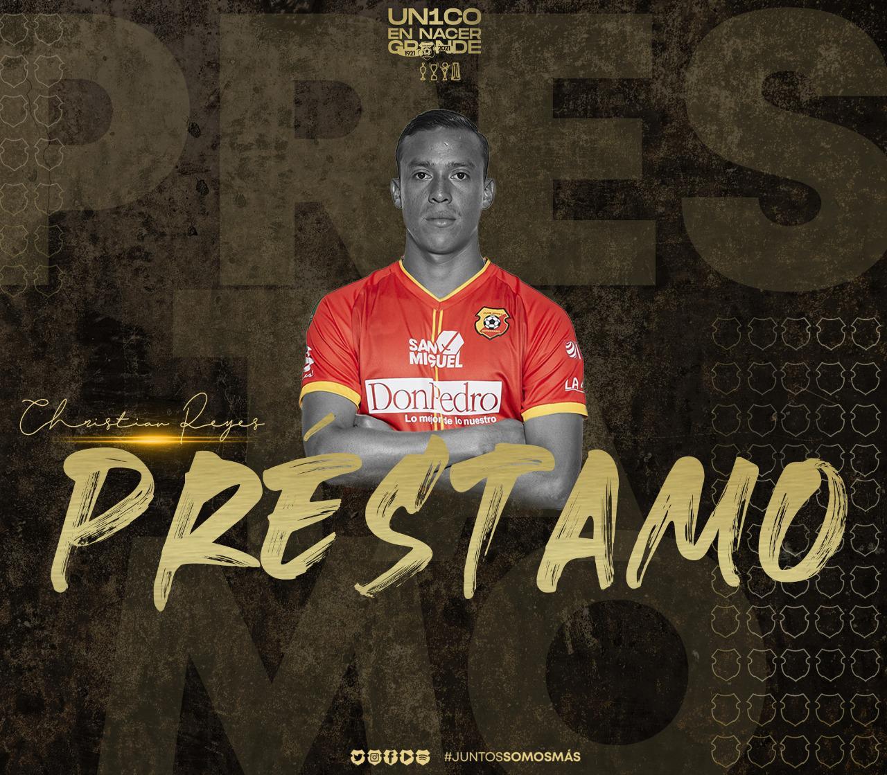 El florense Christian Reyes reforzará a Guanacasteca durante la temporada 2021-2022.