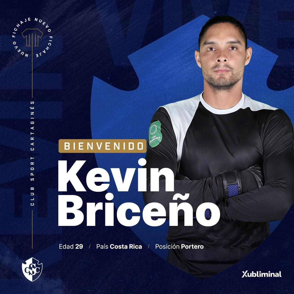 ¡Llega por dos años! Kevin Briceño es el primer refuerzo del Cartaginés.