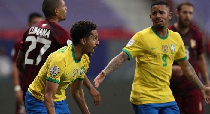 Copa América: A media máquina Brasil goleó a Venezuela.