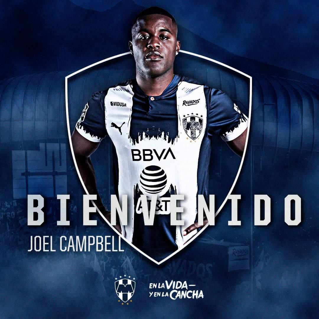Rayados de Monterrey oficializa a Joel Campbell como refuerzo para el Apertura 2021.
